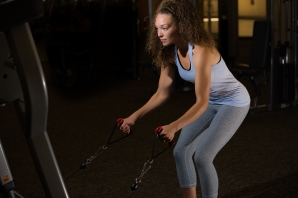 Cable exercises 101 back muscles with Catherine at LA Fitness-7