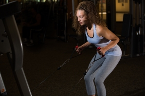 Cable exercises 101 back muscles with Catherine at LA Fitness-8