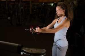 Cable exercises 101 back muscles with Catherine at LA Fitness-9