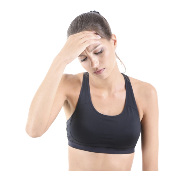 don't let working out become a headache, get the answers from living healthy
