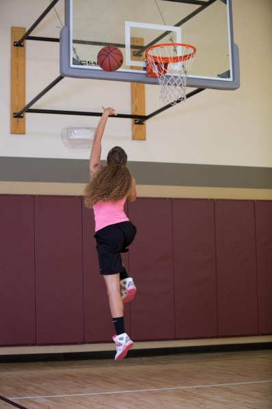 basketball workout at LA Fitness with Catherine-23