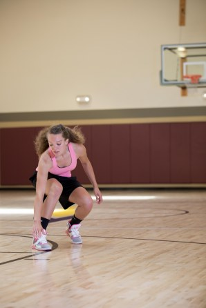 basketball workout at LA Fitness with Catherine-30