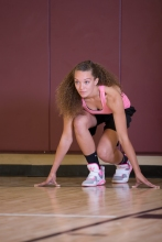 basketball workout at LA Fitness with Catherine-34