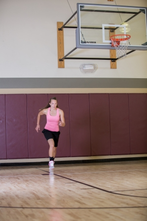 basketball workout at LA Fitness with Catherine-4