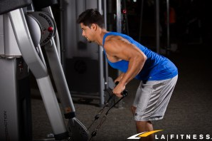How to do a triceps cable kickback at LA Fitness (1)