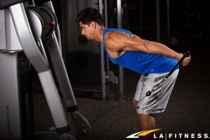 How to do a triceps cable kickback at LA Fitness (2)