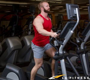 how to do elliptical intervals at LA Fitness on the cardio equipment-2