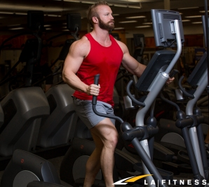 how to do elliptical intervals at LA Fitness on the cardio equipment