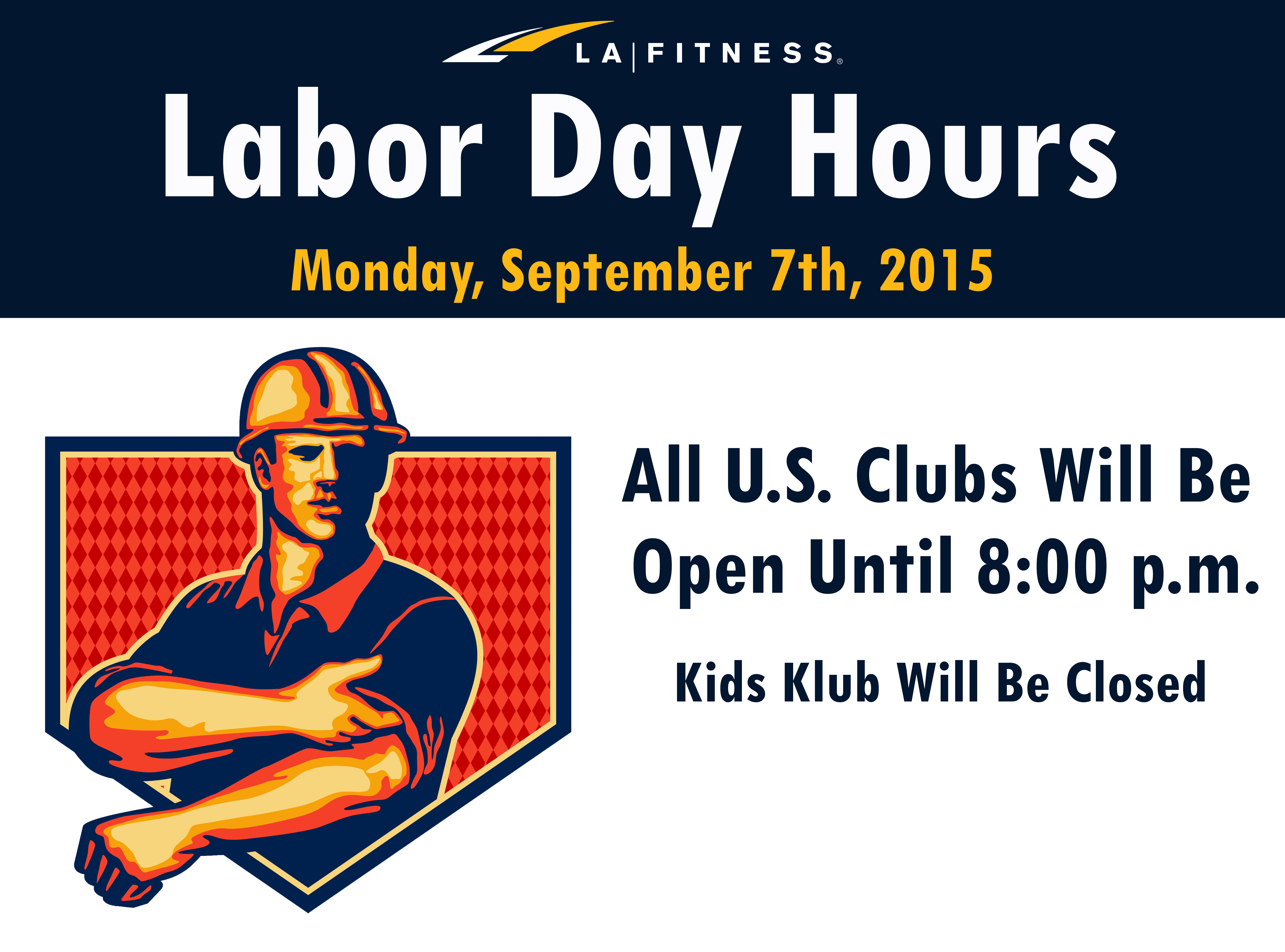 La Fitness Labor Day Hours For Clubs And Kids Klubs 2015 La